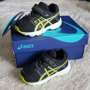 Baby Boy Asics Sneakers Black & Neon New in Box